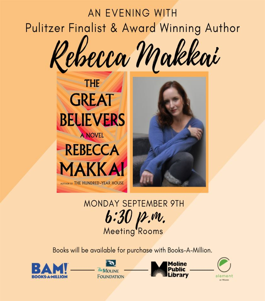 Rebecca Makkai Author Visit - September 9